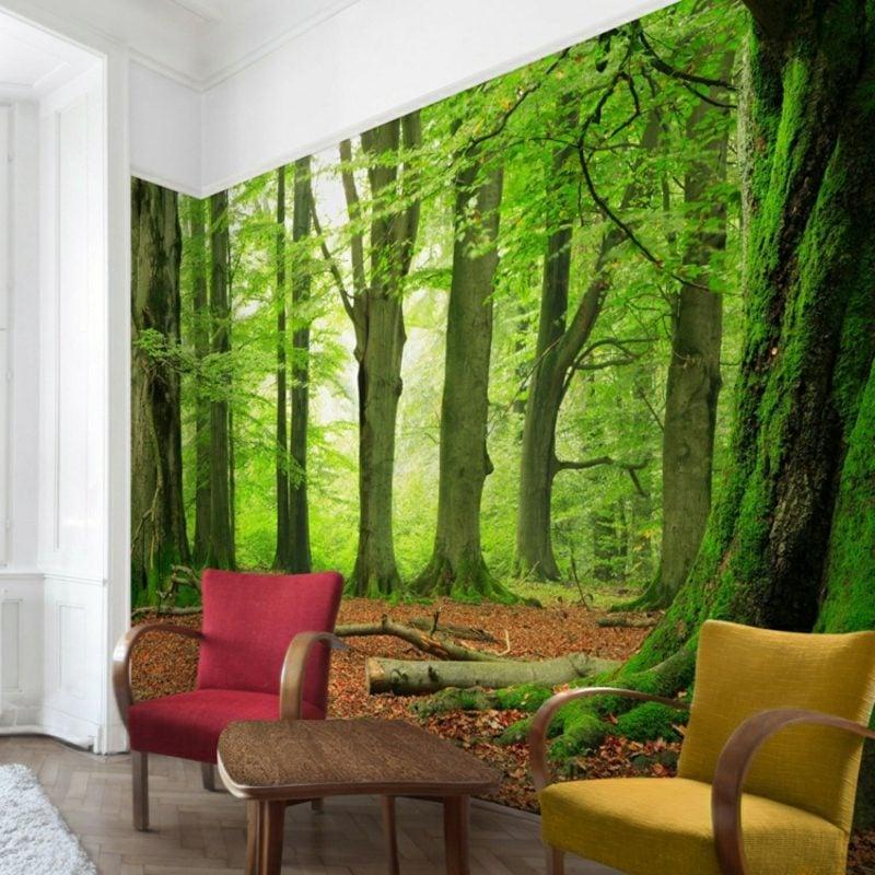 3D Fototapete Wald