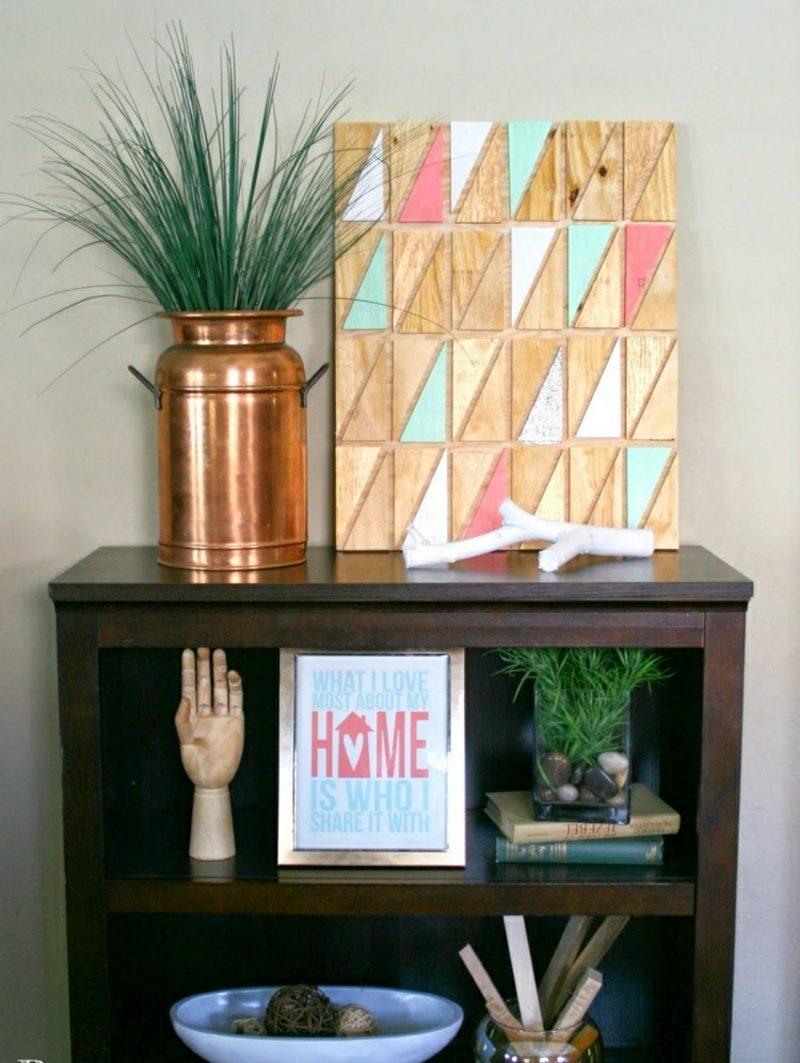 Wanddeko Holz inspirierende Ideen mit Sperrholz