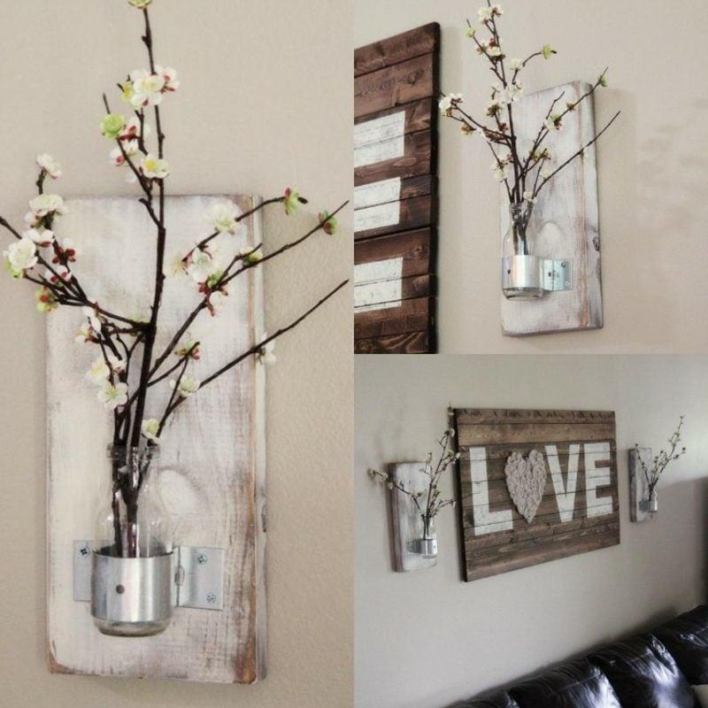 Wanddeko Holz Dekorative Vasen