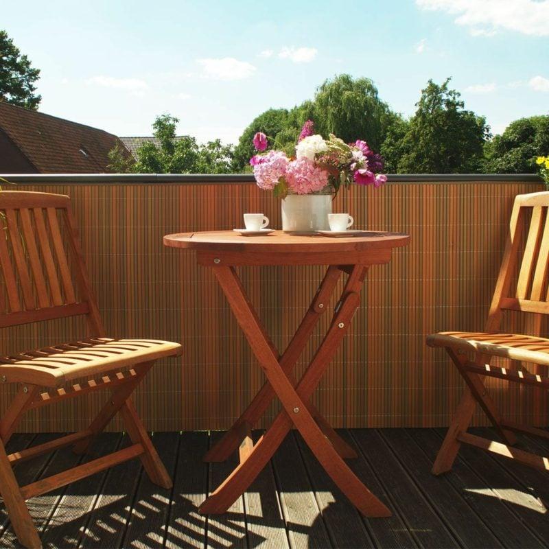 Balkonverkleidung aus Kunststoff Wetter und Sichtschutz