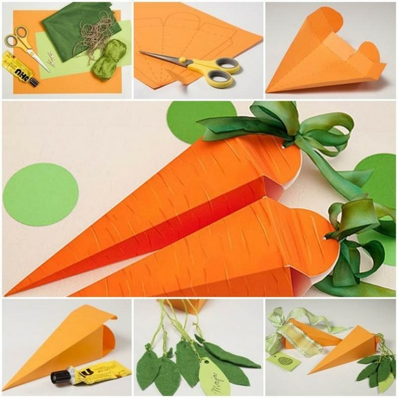 Ostergeschenke basteln aus Tonpapier