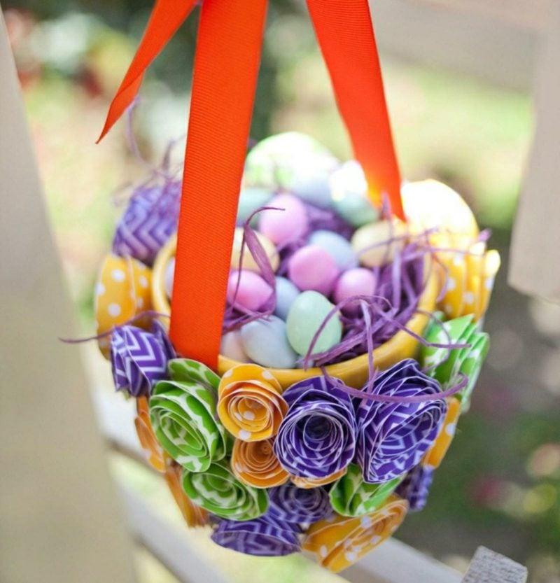 Ostergeschenke basteln Osterkorb