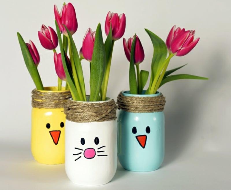 Ostergeschenke basteln Vasen
