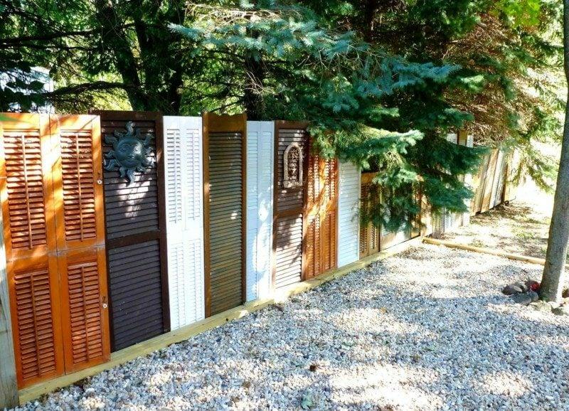 Sichtschutz Garten mit Jalousien kreative Ideen