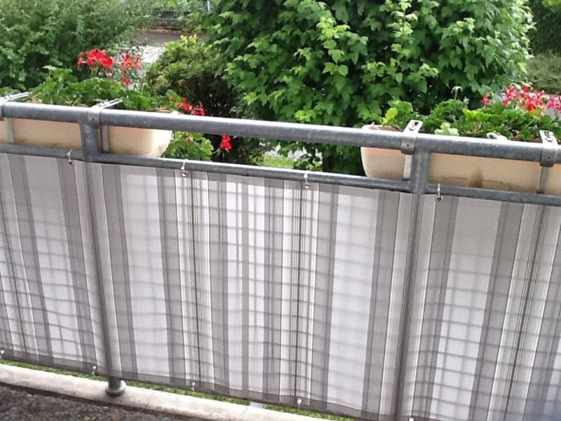 Balkonverkleidung modern Stoff