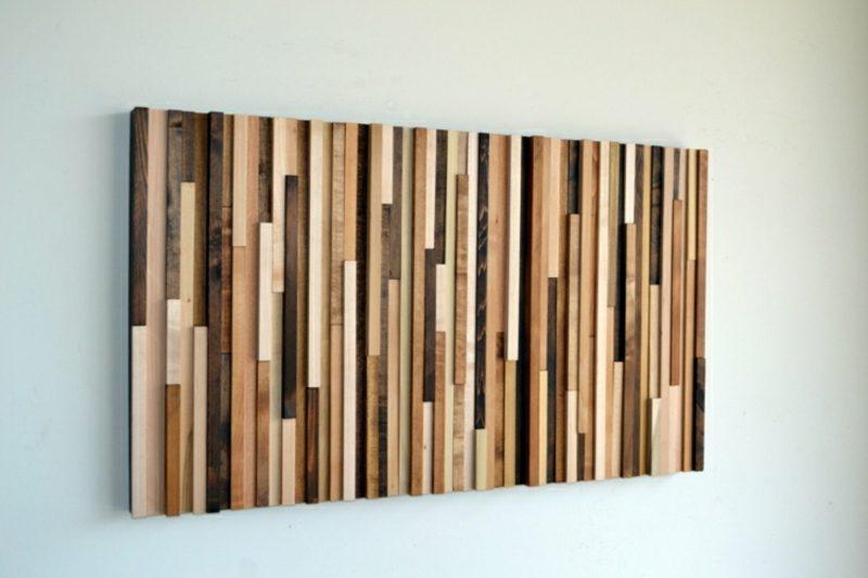 Wanddeko Holz herrliches Wandbild selber machen
