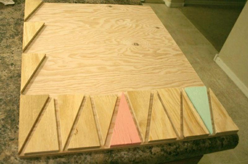 Wanddeko Holz Wandbild selber gestalten