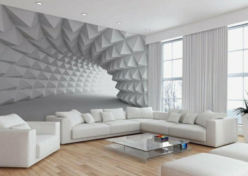 3D Fototapete geometrische Muster