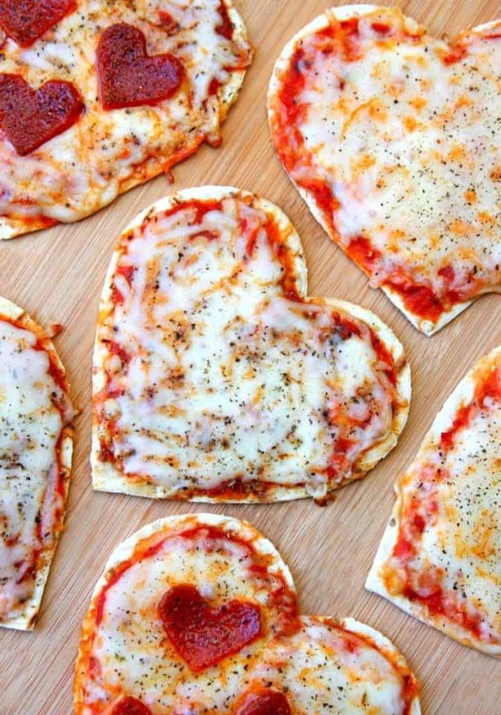 Leckeres Rezept für Valentinstag: Herz - Pizza