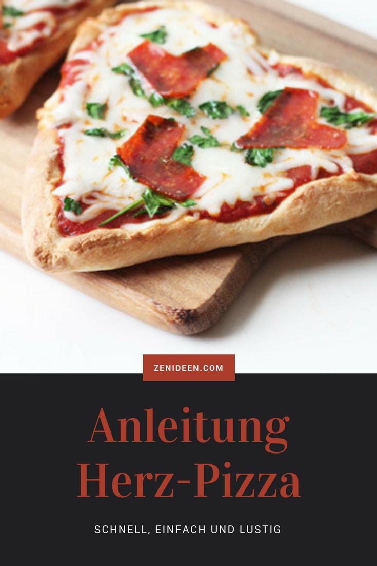 Schnell, einfach und lustig - Anleitung für Herz - Pizza