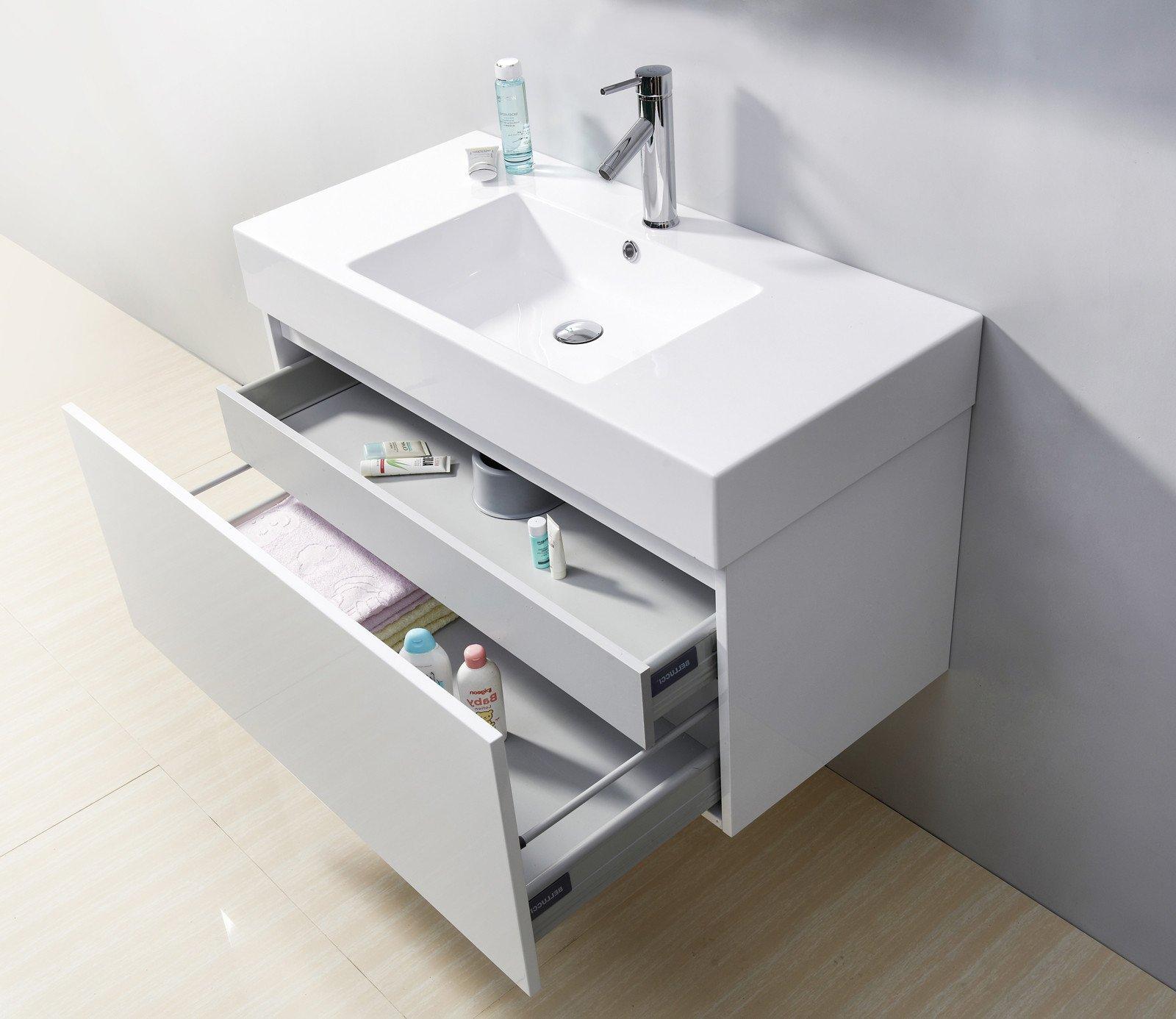 Tipp 1: Kaufen Sie einen Badezimmer Unterschrank mit tiefen Schubladen