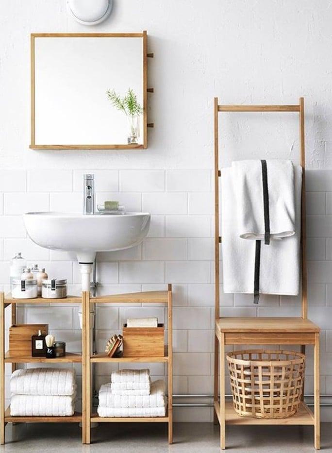 Die IKEA Möbel für Badezimmer faszinieren mit klarer Optik und höher Funktionalität