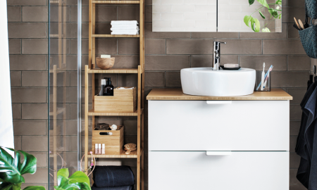 Die Vision des Teams für IKEA Badmöbel ist es, solche Möbel zu kreieren, die hohe Praktikabilität mit umwerfenden Look vereint.