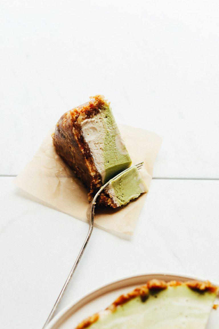 Einen grünen Low Carb Käsekuchen zu probieren? Was steht hinder der grüner Farbe?