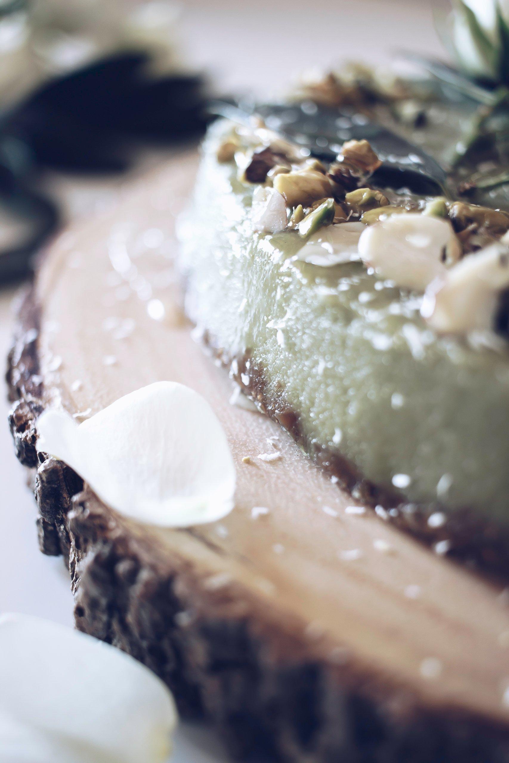 Tolle kinderleichte Anleitungen für Low Carb Käsekuchen mit Matcha