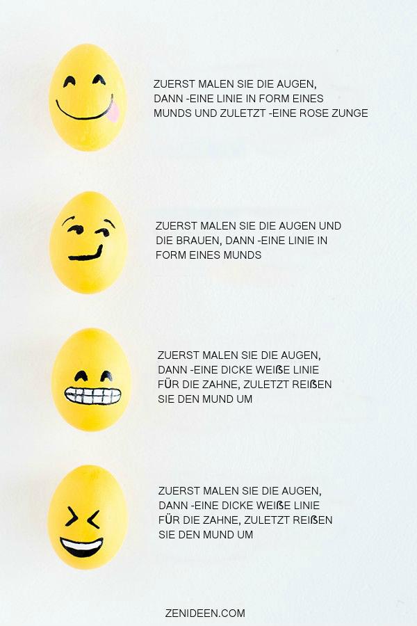 Wie bemalen Sie Ihre Liebling-Emoji-Gesichter?
