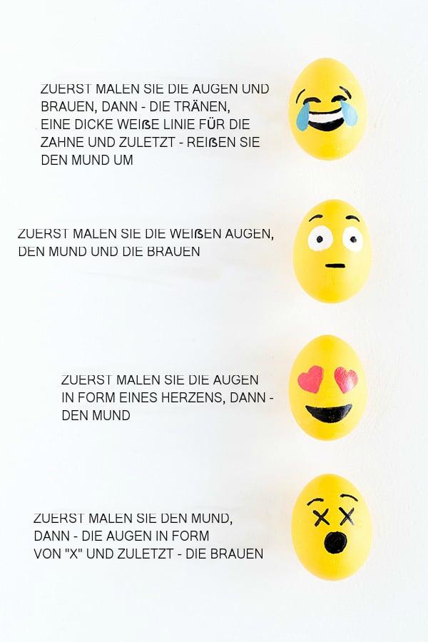 Lernen Sie hier, wie Sie Ihre Liebling-Emoji-Gesichter bemalen?