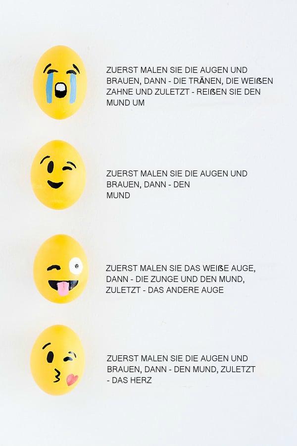 Lernen Sie hier, wie Ihre Liebling-Emoji-Gesichter auf die Ostereier zu malen?