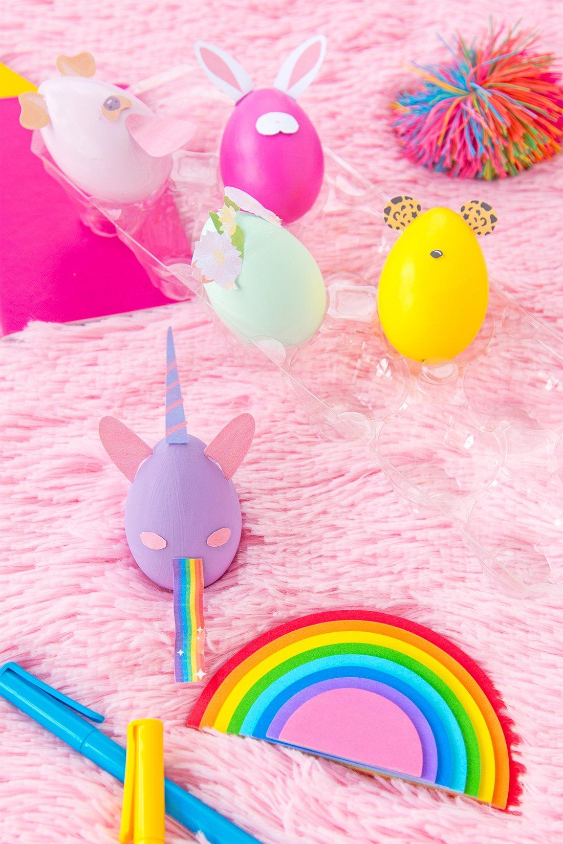Snapchat Inspiration: lustige Eier Gesichter zu Ostern basteln