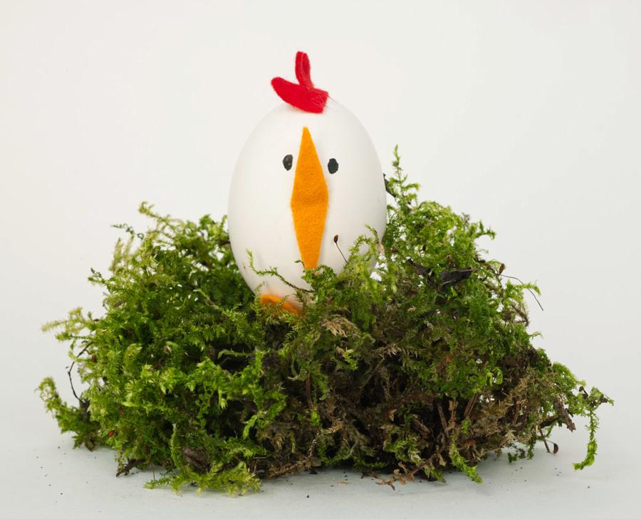 Technik #2: Ostereier ohne Farbe Färben - Wie kreieren Sie das Huhn?