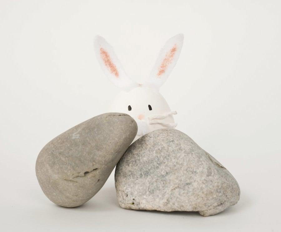 Technik #2: Ostereier ohne Farbe Färben - Wie kreieren Sie den Hasen?