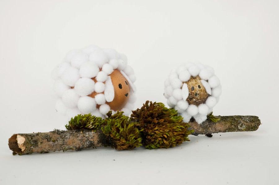 Technik #2: Ostereier ohne Farbe Färben - Wie kreieren Sie das Schaf?