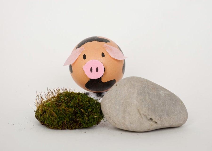 Technik #2: Ostereier ohne Farbe Färben - Wie kreieren Sie das Schwein?