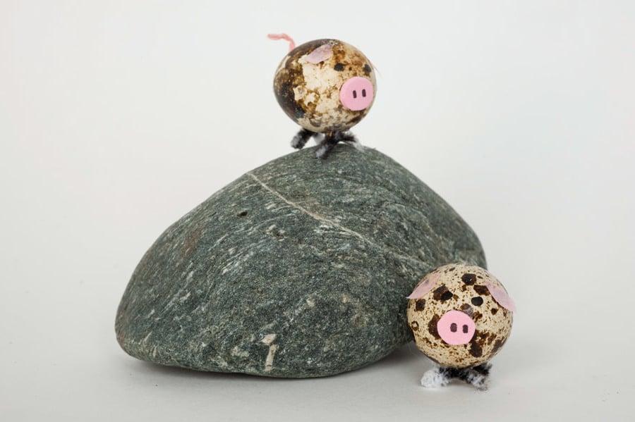 Technik #2: Ostereier ohne Farbe Färben - Wie kreieren Sie das Schweinchen?