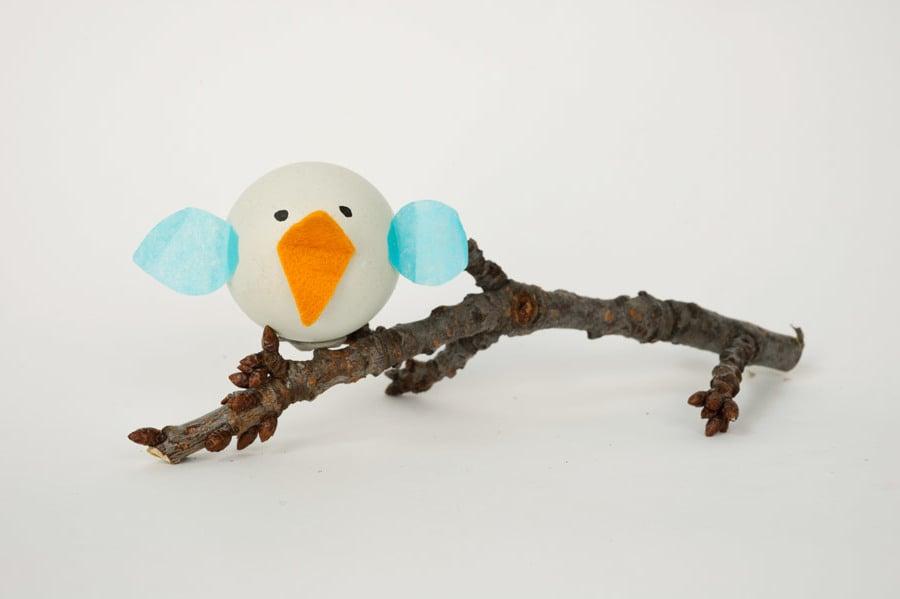 Technik #2: Ostereier ohne Farbe Färben - Wie kreieren Sie den Vogel?