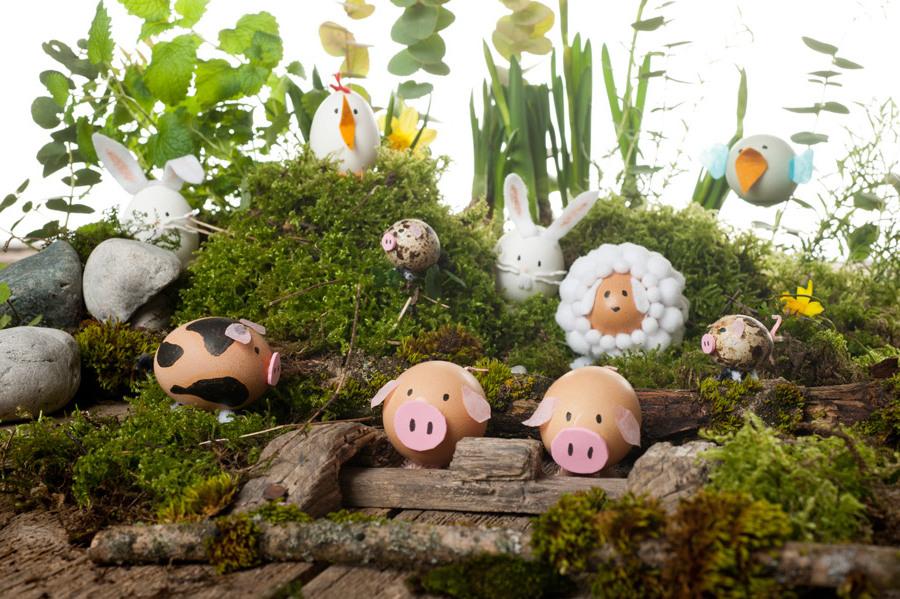 Technik #2: Kreieren Sie Einen Bauernhof Mit Ostereiern In Form Der  Haustiere