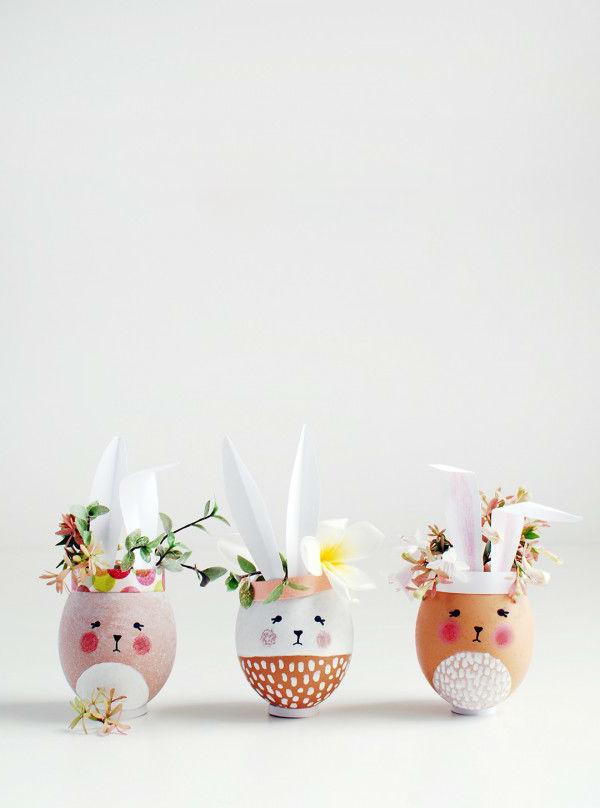 Kleine Vasen in Form von Osterhasen Basteln: Ihre Familie rühmen Ihre Kreativität