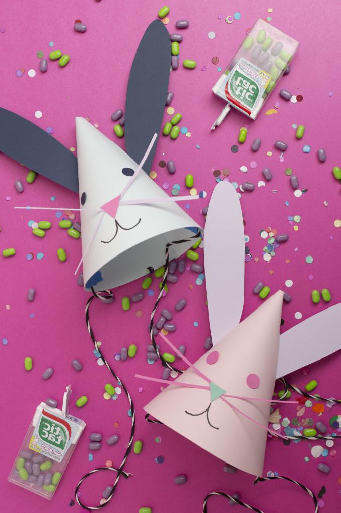 Osterhasen Basteln: Party Hüte selber basteln