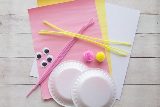 DIY Anleitung für Osterhasen aus Papierteller - die notwendigen Materialien