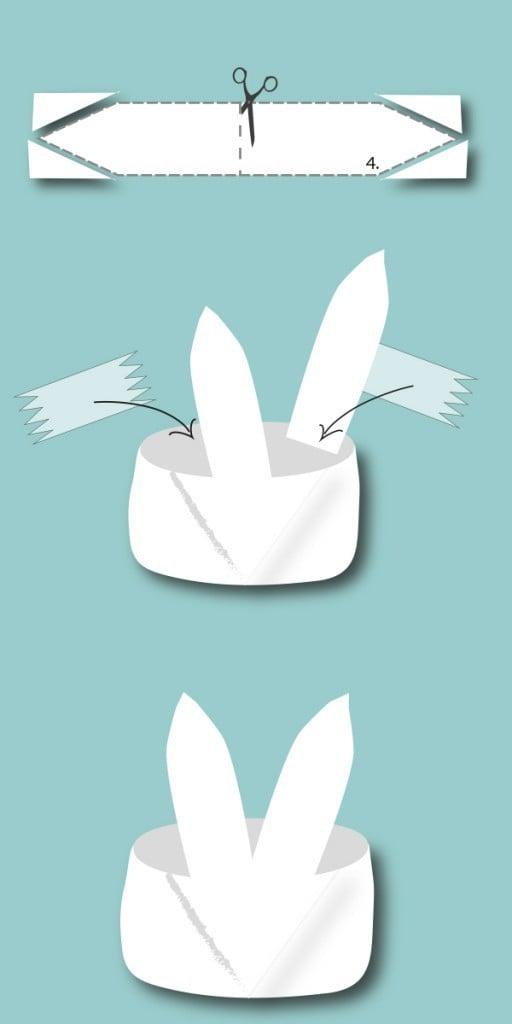 Basteln Sie selber Osterhasen - Nest