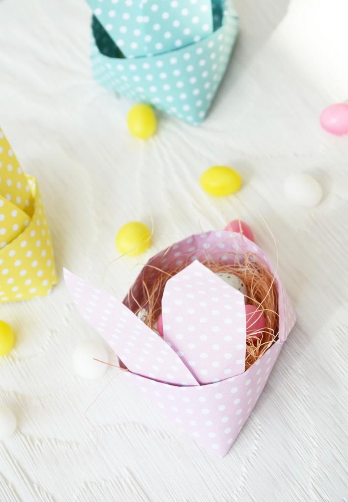 Bastelideen Ostern: DIY Anleitung für Osterhasen - Nest