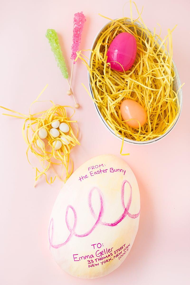 Osterkörbchen aus Eier selber machen