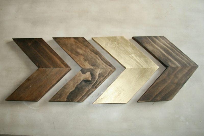 Wanddeko Holz Ideen mit Holzbrettern
