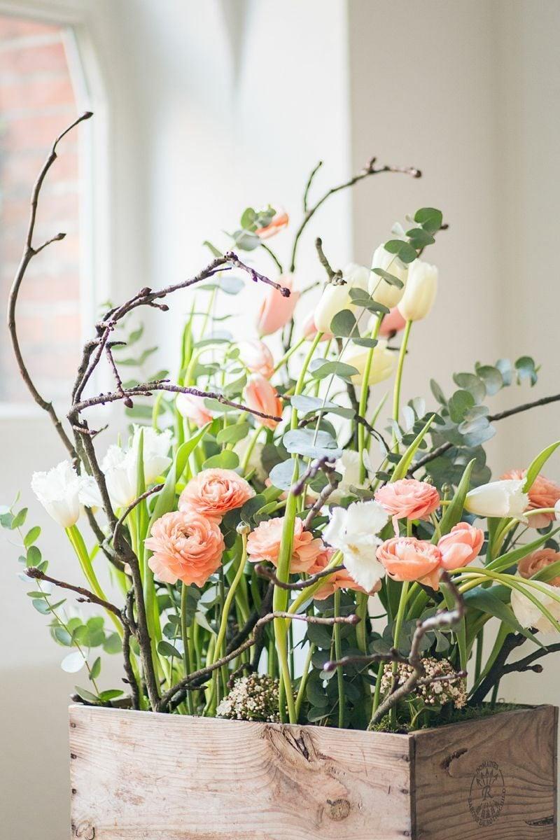 Bastelideen Frühling Blumengestecke selber machen