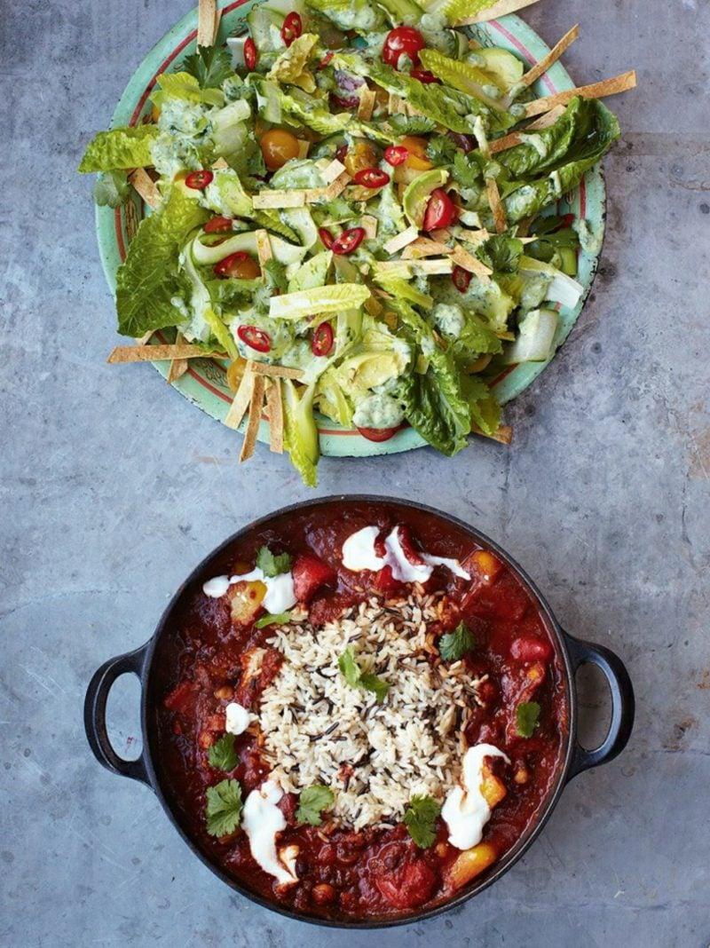 Jamie Oliver 15 Minuten Rezepte vegetarisches Chili