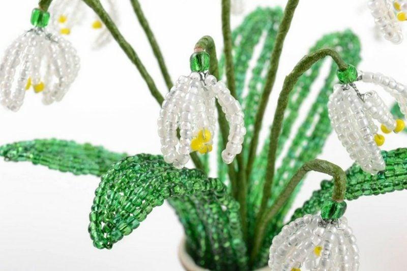 Bastelideen Frühling Schneeglöckchen