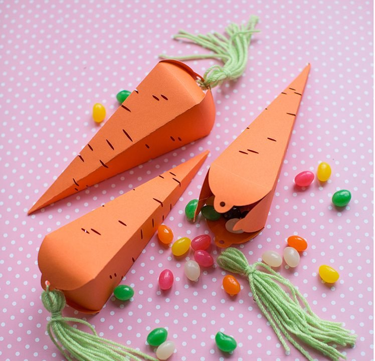 Bastelideen Ostern: Kreieren Sie einige schöne Karotten aus Bastelpapier
