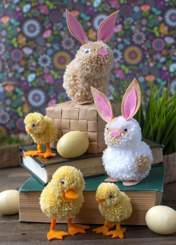 DIY flauschige Haustier mit Kindern zu Ostern basteln