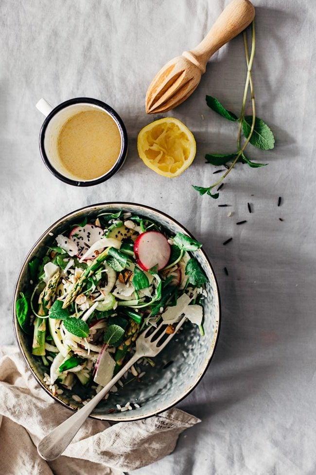 Der zweite Frühlingssalat: Die Zutaten für das Salatdressing: