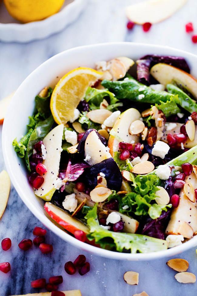 Schmackhafte Rezepte für Frühlingssalat mit Nüssen
