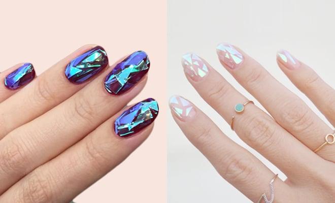 Unser Glitzer Gelnägel mit Glas-Effekt eignet sich perfekt für jede Farbe!