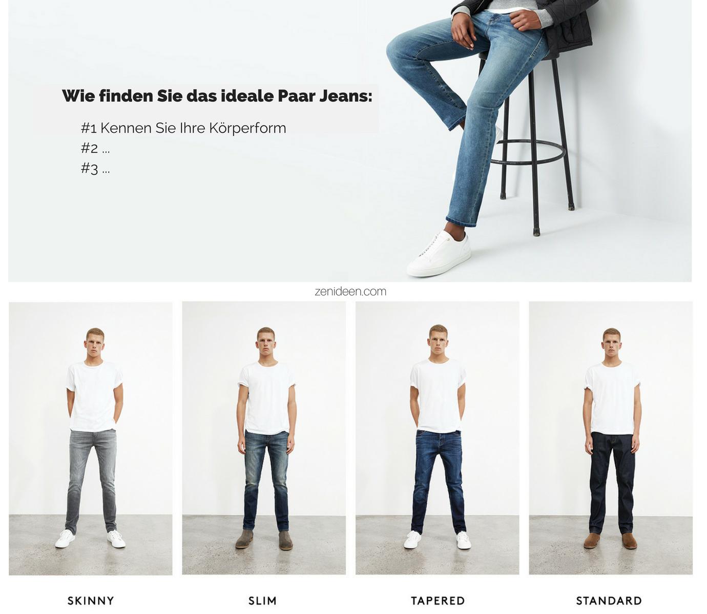 #1 Tipp: Wählen Sie solche Jeans, die zu Ihrer Körperform passen