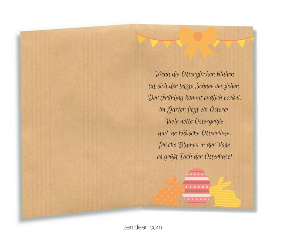 Schöne Ideen für lustige Ostergrüße, die Sie in die Osterkarten zu schreiben