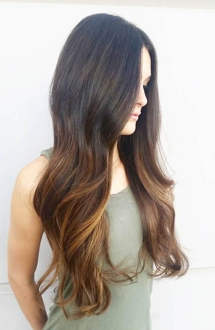 Ombre Look für dunkelbraune Haare
