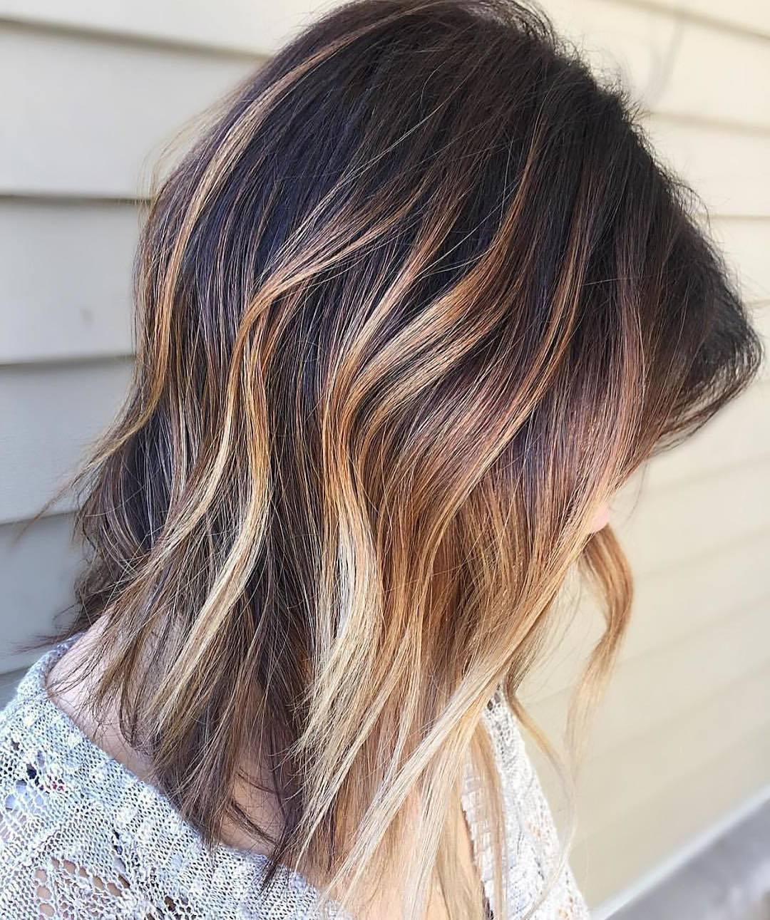 Ombre Blond braun für hellbraune Haare