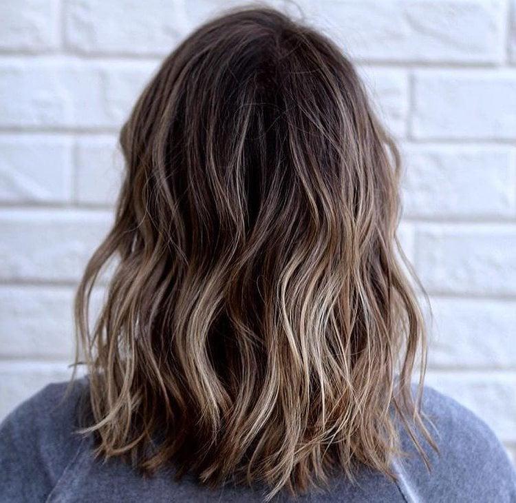 Ombre braun blonde Haare